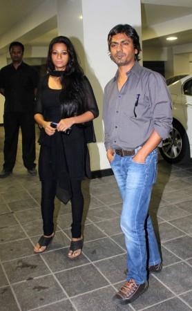 Actor Nawazuddin Siddiqui with partner (Varinder Chawla)
