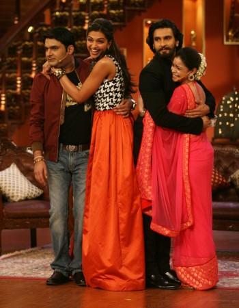 Kapil Sharma, Deepika Padukone and Ranveer Singh