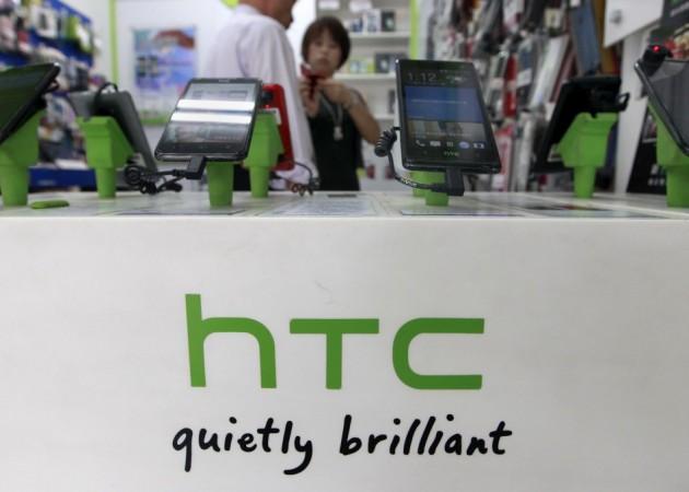 HTC smartphones on display