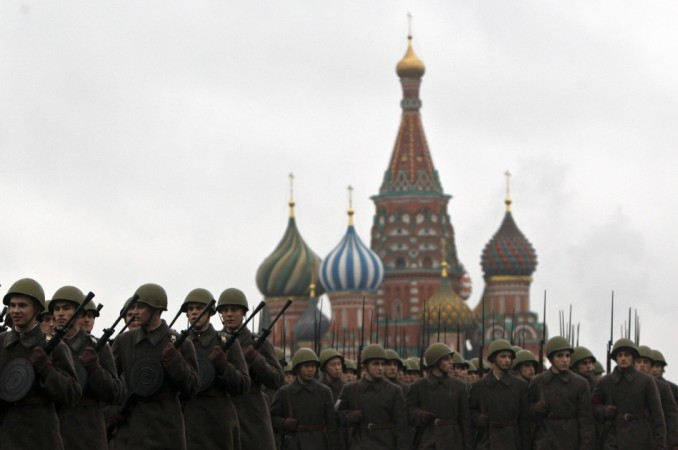 Russia nails testicles to red square