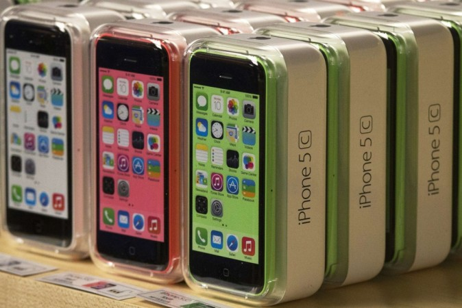 File of Apple iPhone 5C phones are pictured at the Apple retail store on Fifth Avenue in Manhattan, New York