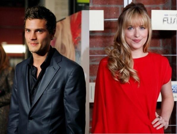 Jamie Dornan and Dakota Johnson who play Christian Grey and Anastasia Steele