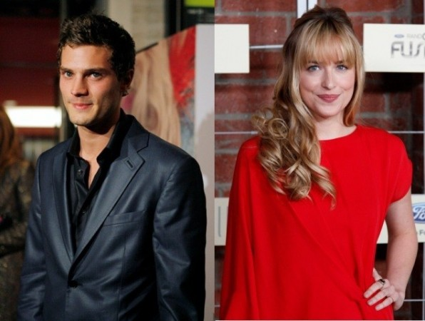Jamie Dornan and Dakota Johnson who play Christian Grey and Anastasia Steele
