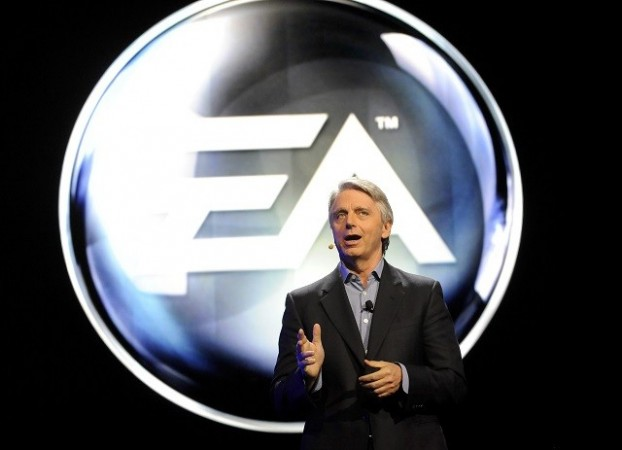 John Riccitiello, CEO, Electronic Arts introduces their new lineup at E3 event in Los Angeles, 2012
