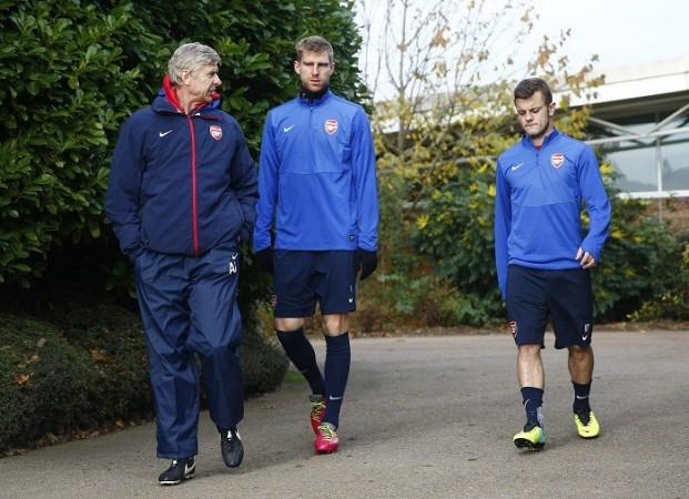 Wenger Mertesacker Wilshere Arsenal
