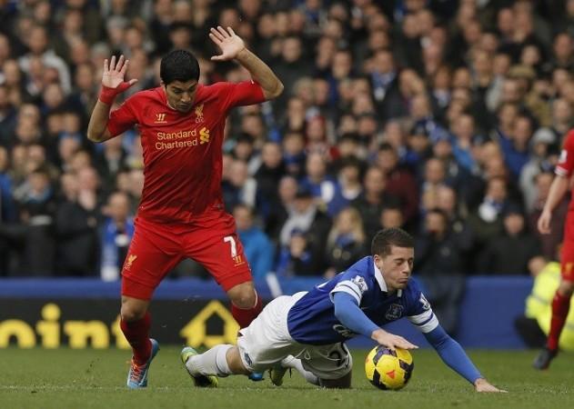 Suarez Barkley Liverpool Everton