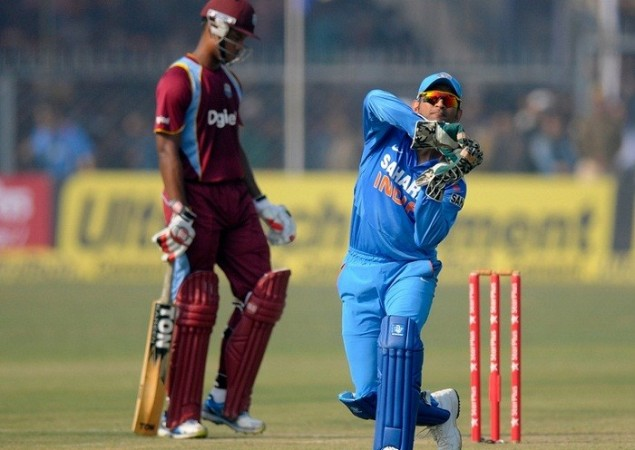 Dhoni India West Indies