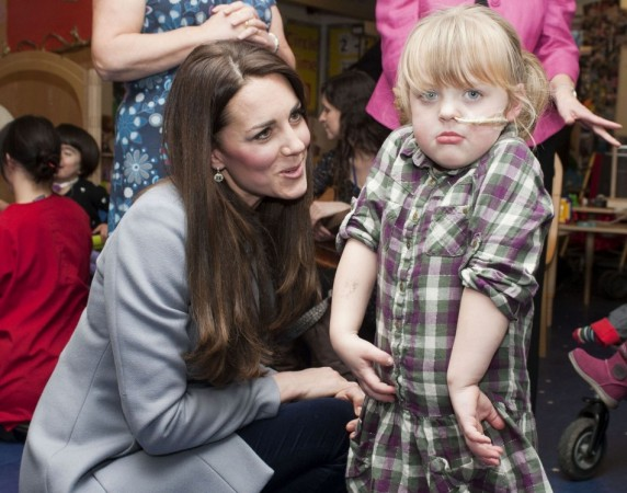 Kate Middleton meets children at Shooting Star House children's hospice in Hampton, Middlesex