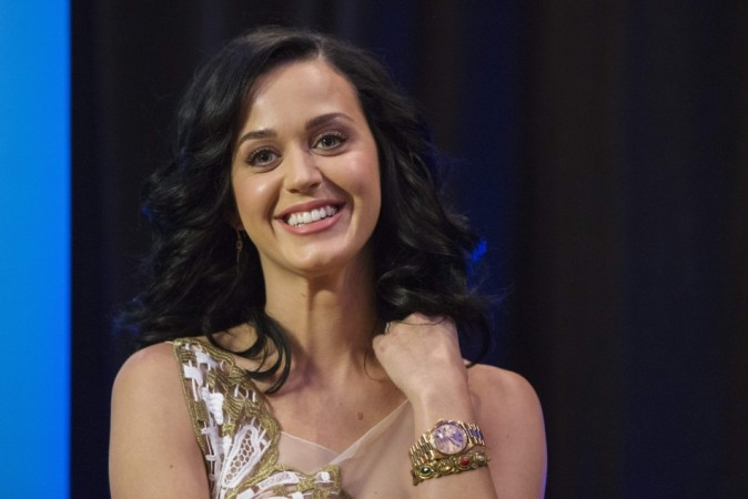 Singer Katy Perry takes part in a panel discussion during the announcement that she will be made a UNICEF Goodwill ambassador at UNICEF headquarters in New York