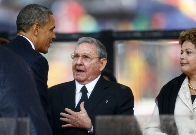 Obama Castro Mandela memorial
