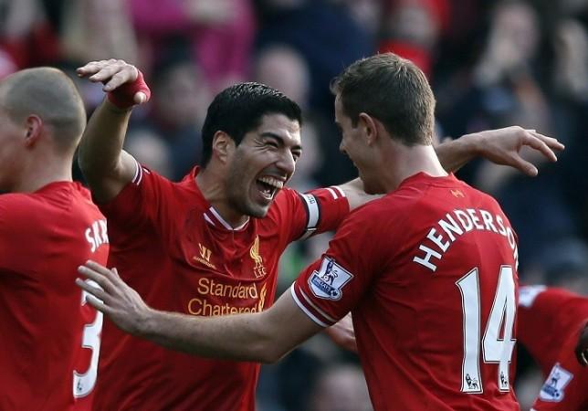 Luis Suarez Liverpool Jordan Henderson