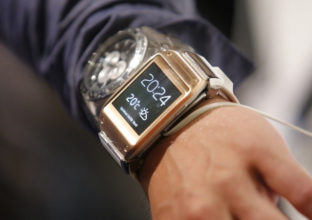 Samsung galaxy Gear smartwatch at the IFA consumer electronics event in berlin, 2013.