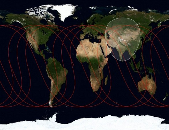 Ground track of satellite Beidou-M