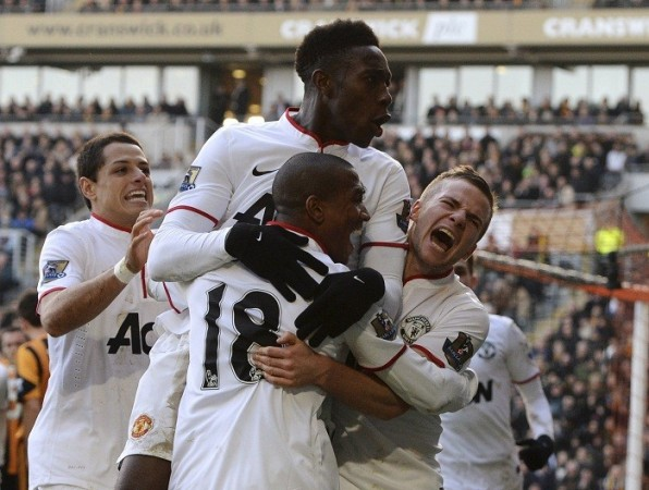 Welbeck Cleverley Young Hernandez Manchester United