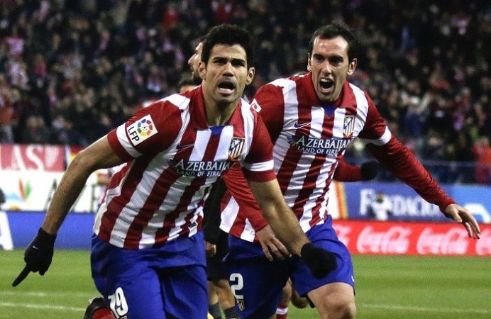 Diego Costa Diego Godin Atletico Madrid