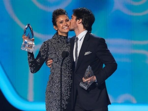 Nina Dobrev and Ian Somerhalder at People's Choice Awards 2014