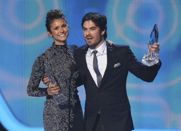 'The Vampire Diaries' Star Ian Somerhalder Posts Selfie with 2014 People's Choice Award, Says He Loves Nina Dobrev on Her Birthday [PHOTOS]