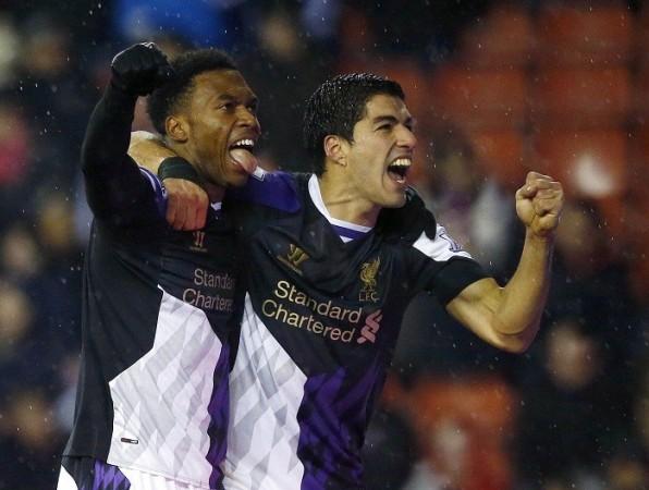 Liverpool forwards Luis Suarez and Daniel Sturridge