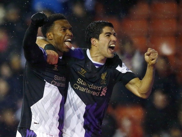 Liverpool forwards Luis Suarez and Daniel Sturridge