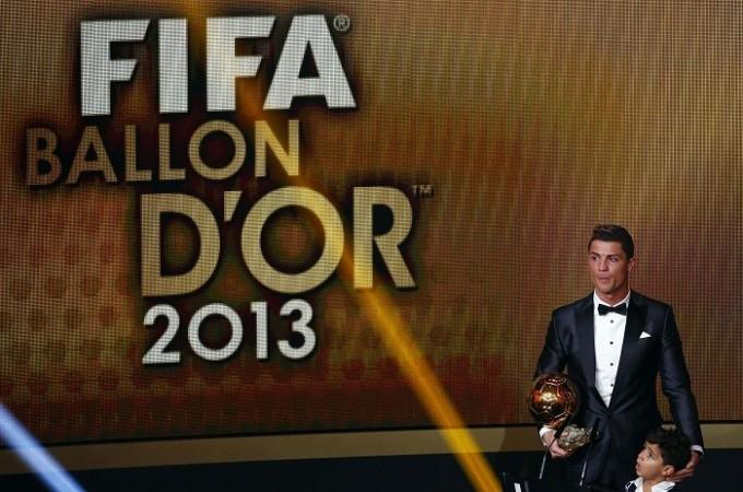 Cristiano Ronaldo Ballon d'Or Son