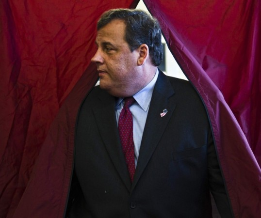 New Jersey Gov. Chris Christie exits a polling station after casting his vote during the New Jersey election in Mendham Township, N.J., on 5 November. File Photo:Reuters