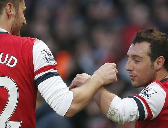 Giroud Cazorla Arsenal