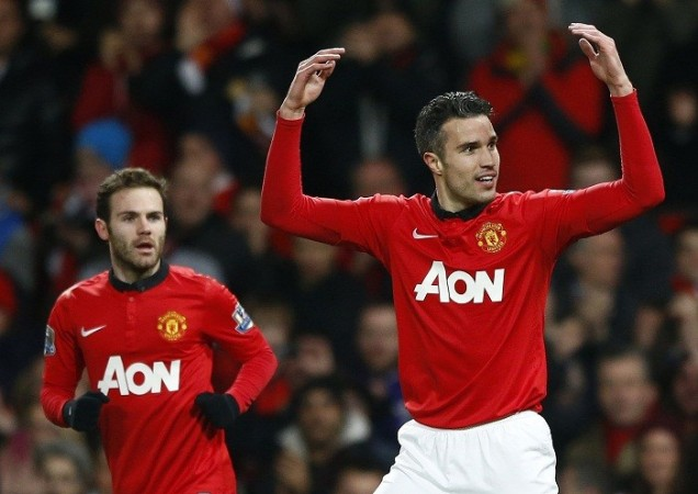 Juan Mata Robin Van Persie Manchester United