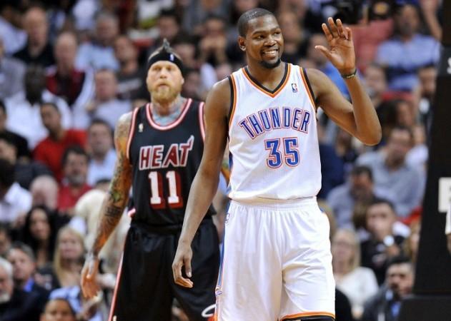 Kevin Durant Oklahma City Thunder Miami Heat