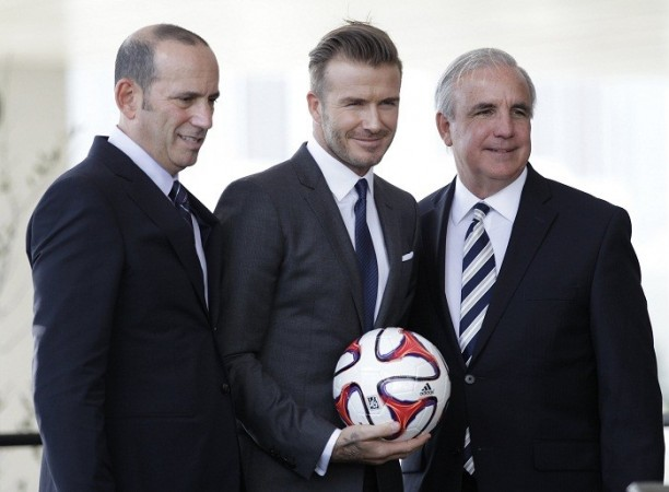 David Beckham Carlos Gimenez Don Garber