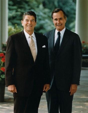 President Reagan and Senior Bush/WikiCommons
