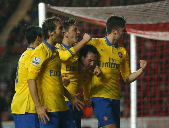 Arsenal Cazorla Ozil Flamini Giroud