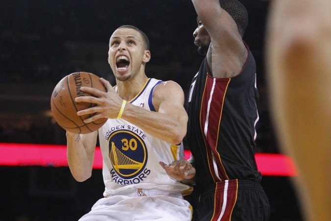 Stephen Curry Golden State Warriors Chris Bosh Miami Heat