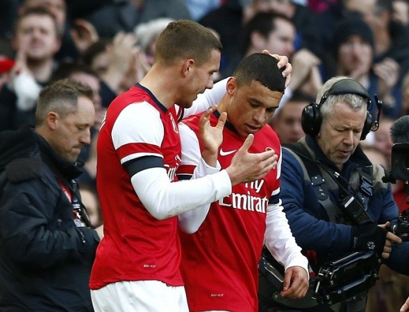 Alex Oxlade-Chamberlain Lukas Podolski Arsenal