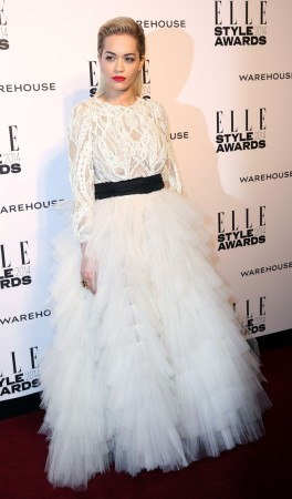 Rita Ora arrives at the Elle Style Awards in London