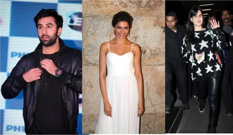 Ranbir Kapoor, Deepika Padukone, Katrina Kaif