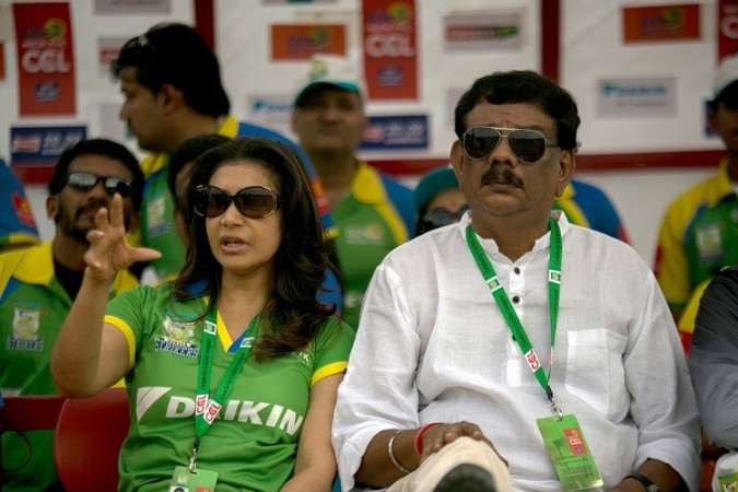 Priyadarshan-Lissy at Semi Final Match Between Kerala Strikers and Bhojpuri Dabanngs