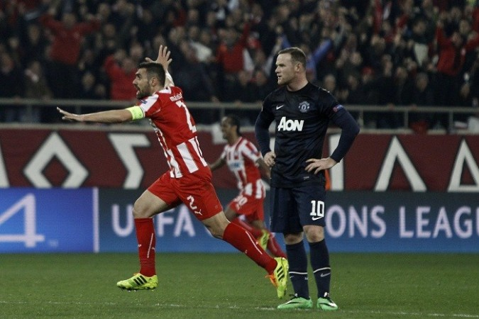 Maniatis Olympiakos Wayne Rooney Manchester United