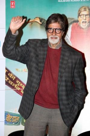 Amitabh Bachchan at the trailer launchof 'Bhoothnath Returns' (Varinder Chawla)