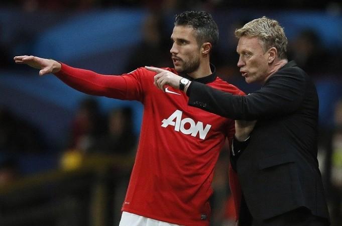Van Persie Moyes Manchester United