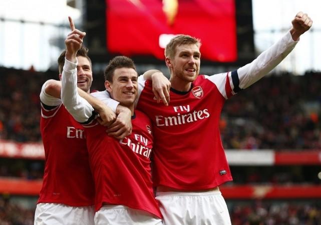 Giroud Koscielny Mertesacker Arsenal