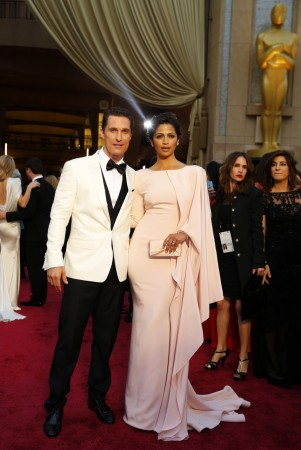 Matthew McConaughey and his wife Camila Alves (Reuters)
