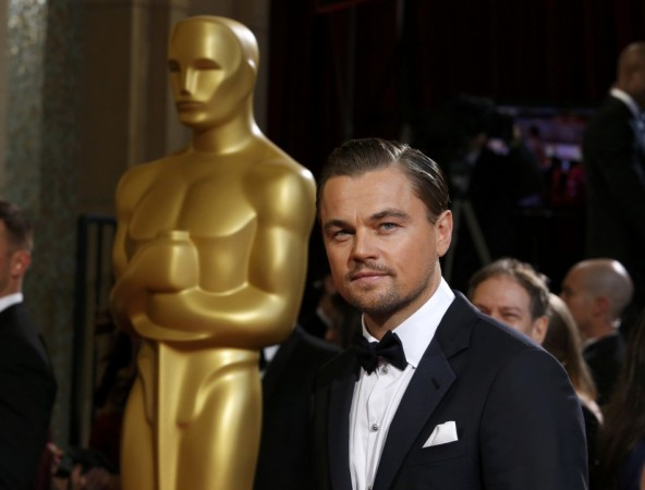 "Leonardo DiCaprio, best actor nominee for his role in the film ""The Wolf of Wall Street"", arrives at the 86th Academy Awards in Hollywood"