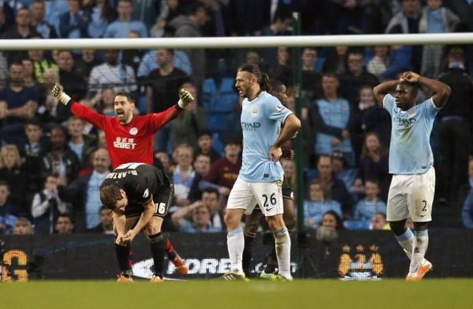 Manchester City Wigan Demichelis Richards McArthur Carson