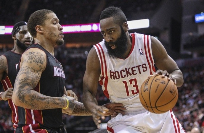 James Harden Houston Rockets Michael Beasley Miami Heat