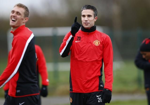 Van Persie Fletcher Manchester United