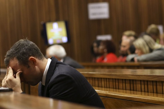 Oscar Pistorius during the trial. He is selling his sprawling Pretoria home, and the death place of Reeva Steenkamp for 'not less than' $4,59,040