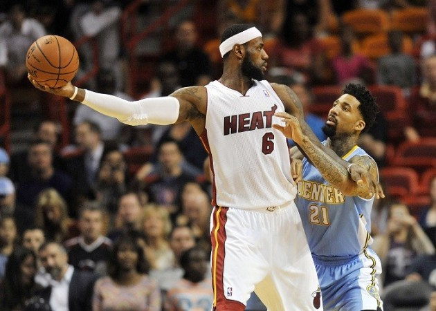 LeBron James Miami Heat Denver Nuggets