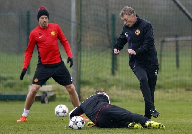 Carrick Rooney Moyes Manchester United