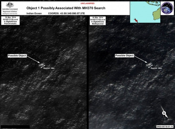 Object 1 possibly Associated with MH370 (Photo AMSA Press Release)