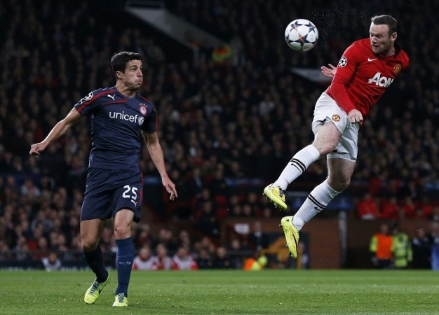 Wayne Rooney Manchester United Olympiakos Marcano